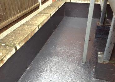 Diesel bund completed epoxy lining
